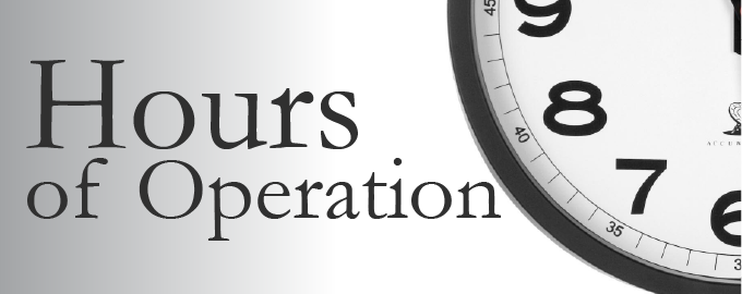 hours of operation graphic