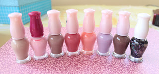 etude house nail polish in 8 different colors