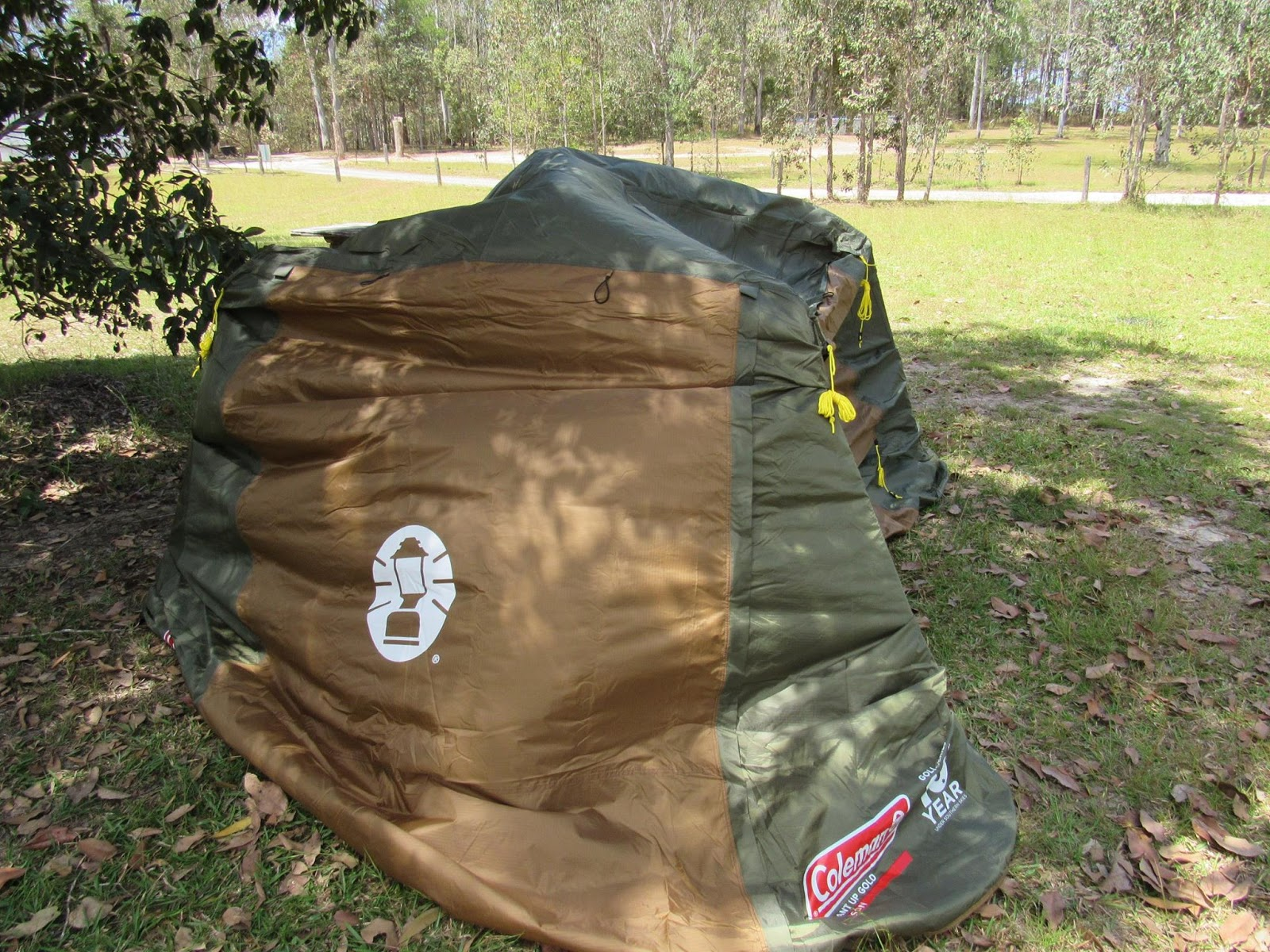 Lowering the framing on the Coleman instant up 4 gold tent makes it easier to get the fly over on your own. & Tentworld: Coleman Gold Series Instant Up Tent Maiden Voyage Review