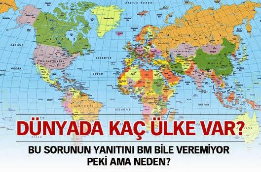 Dünyada kaç ülke var