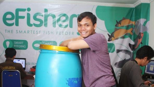 Gibran Chuzaefah Amsi, Kreator Alat Pakan Ikan Otomatis