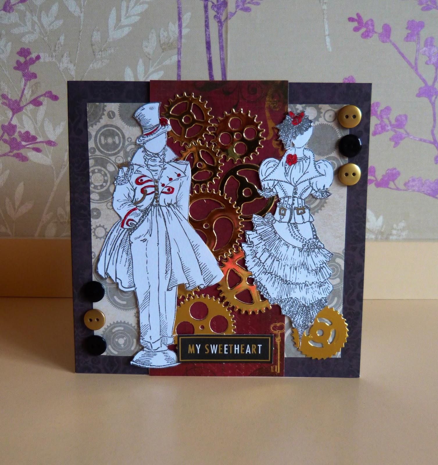Emily Grant Design Steampunk Anniversary Card