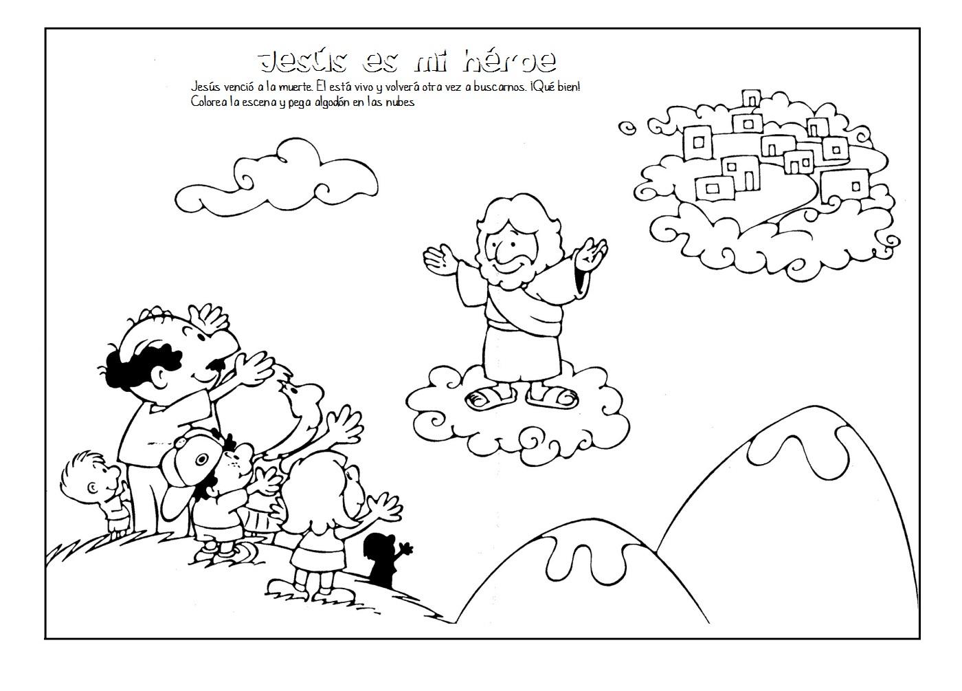 Hermosa Pascua Para Colorear Jesús Friso - Dibujos Para Colorear En ...