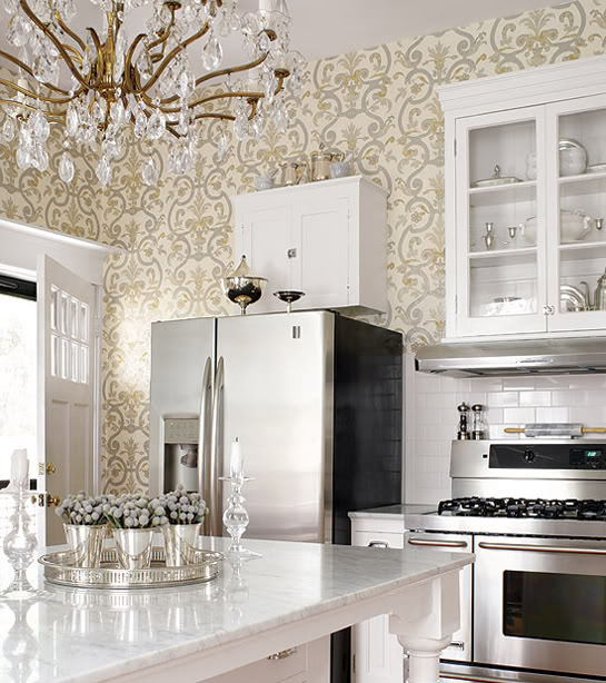 Loft cottage how about dressing up your kitchen walls Dressing a kitchen