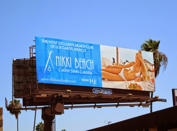 Nikki Beach Cabo San Lucas bikini model billboard