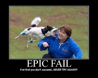 Epic frisbee fail