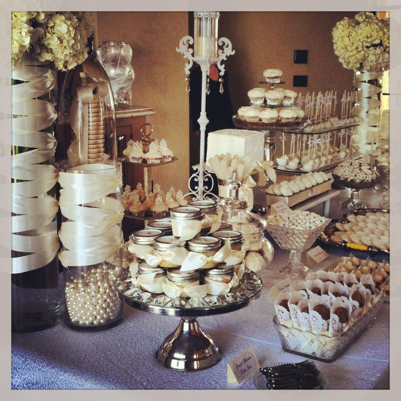 White Wedding Dessert Table: .Oh Sugar Events: Glam White Wedding