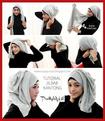 Cara Memakai Jilbab Kantong