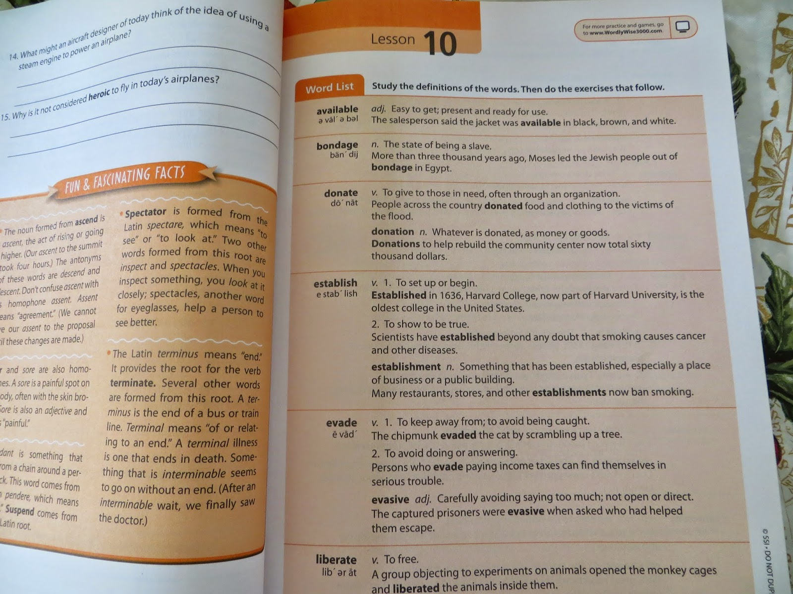 Worksheets Wordly Wise 3000 Book 4 Lesson 5 Review our enchanted place a review of wordly wise 3000 after reading through the definitions you complete finding meanings activity where choose two phrases that together correctly us