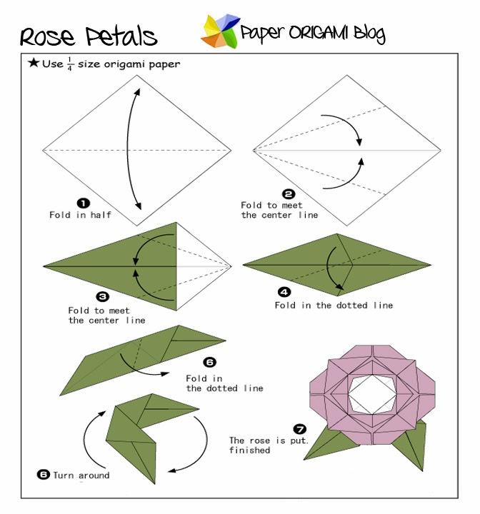 flowers origami rose paper origami guide origami rose diagram pdf Origami Rose Step by Step