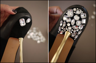 Jewelled Heels | DIY Step 2 | Via Mazzini Blog