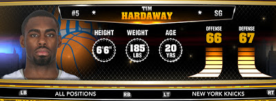 NBA 2K13 Knicks Tim Hardaway Jr. - Round 1 24th Overall