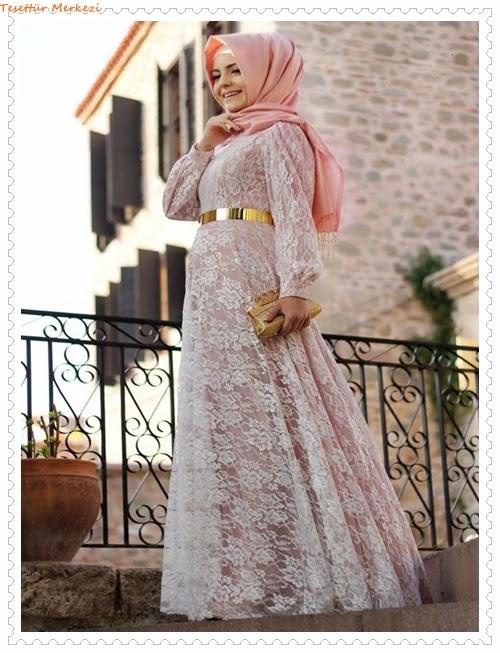 Pınar Şems 2014 İlkbahar Yaz Tesettür Abiye Modelleri