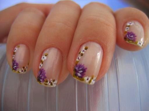 Imagenes de Uñas decoradas , lindas decoraciones con esmalte y uñas postizas con piedras