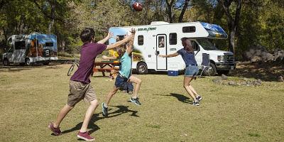amerikansk fodbold og ferie i motorhome passer godt sammen