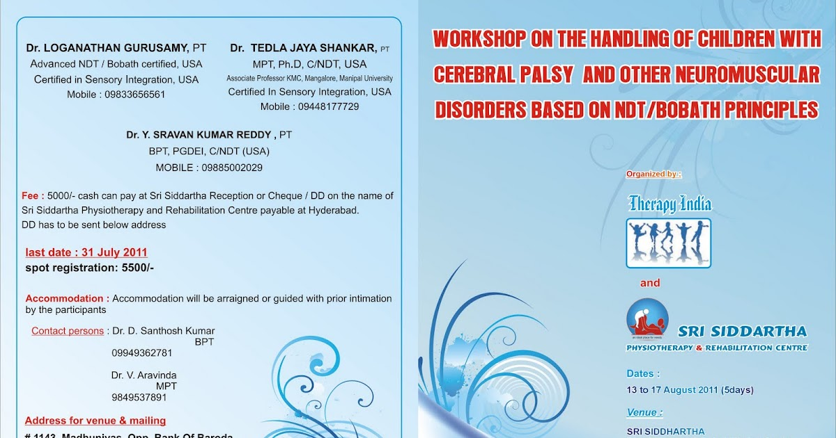 Therapy India Hands On Ndtbobath Workshop Hyderabad