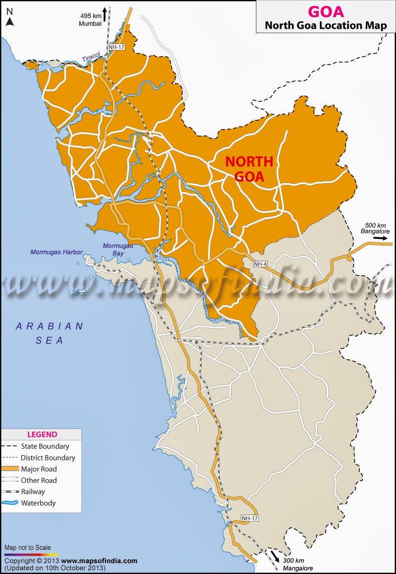 north goa map