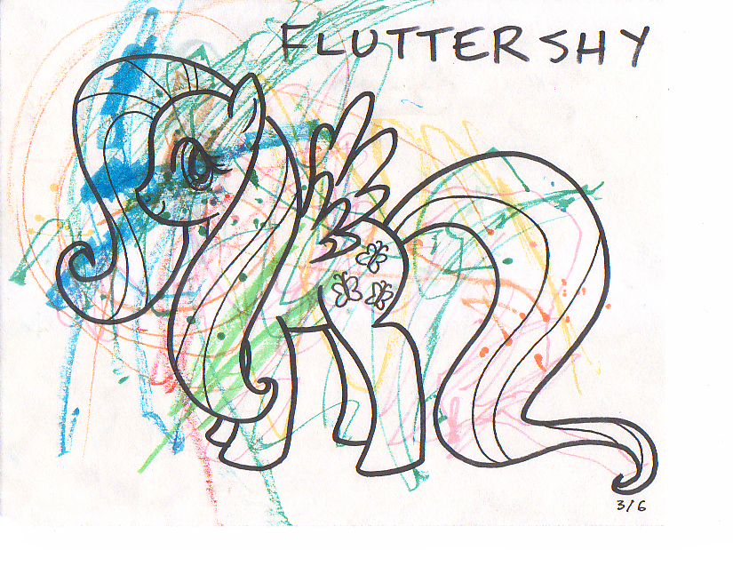 My Little Pony Coloring Pages Fluttershy Baby : Free coloring pages of my little pony fluttershy