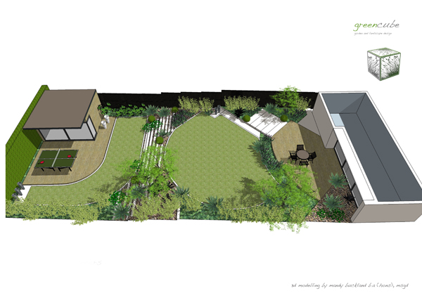 Greencube garden and landscape design uk 3d design work for 3d garden design
