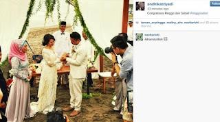 sematkan cincin Ringgo Agus Rahman saat menikahi Sabai Morscheck