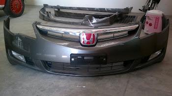 Civic FD Ori Bumper + Ori Foglamp +Red Type R Emblem