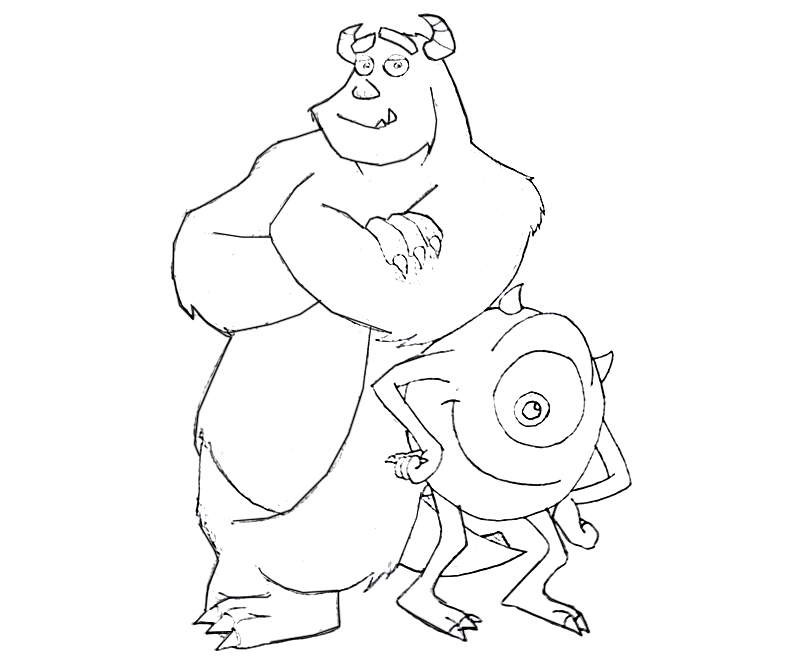 #20 Monsters University Coloring Page
