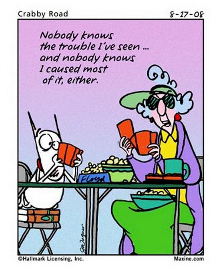 Maxine Cartoons on Aging Maxine Cartoons on Aging