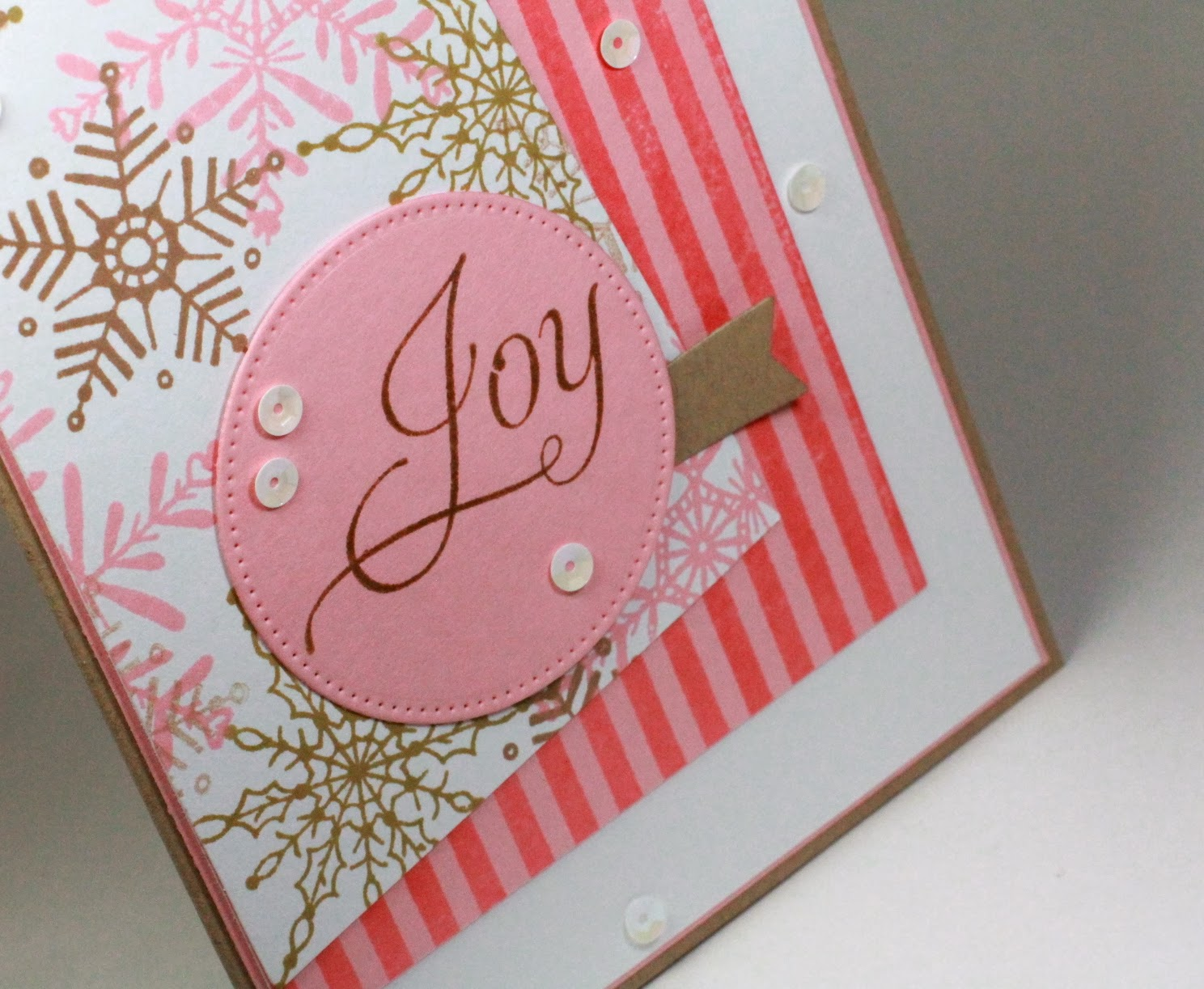 Angel\'s Creative World: Pink and Kraft Joy - CC456 & FLLCDEC13B