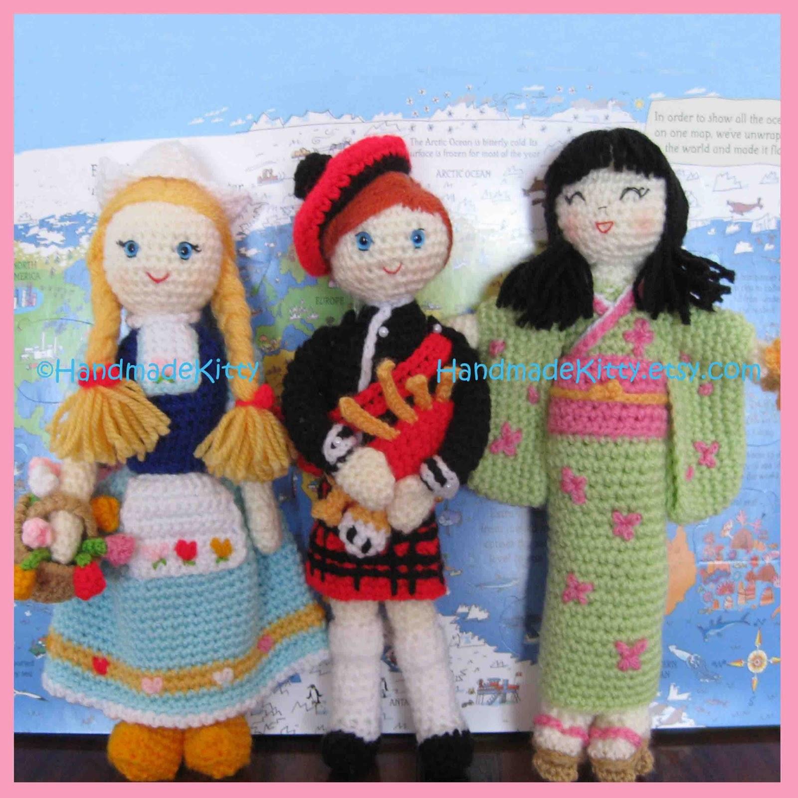 Amigurumi Japanese Doll : HandmadeKitty: Regional Dolls Dutch Scottish Japanese ...