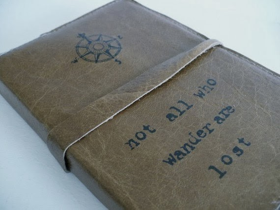 Handmade leather journal by In Blue