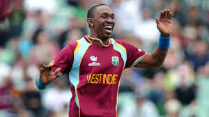 Dwayne bravo played crucial role in West Indies innning to score 242.