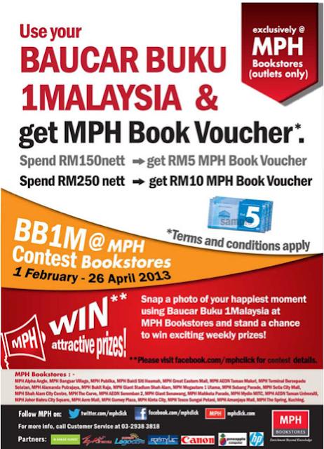 MPH Bookstore Deals 1Malaysia Book Vouchers 2013 (Baucar Buku 1Malaysia BB1M 2.0)