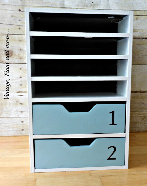 Vintage, Paint and more... stenciled cabinet