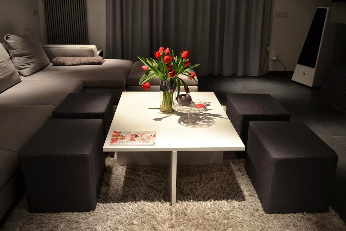 Coffee Table With Ottoman Seating - Art Small Interior : Coffee Table With Ottoman Seating