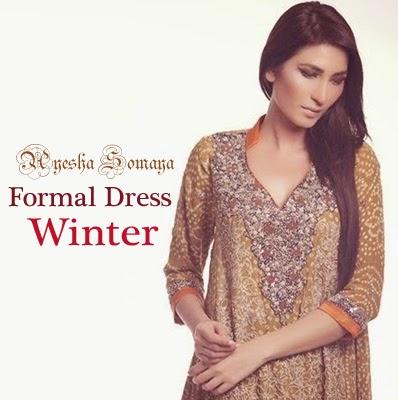 Ayesha Somaya Winter Formal Dress for Girls