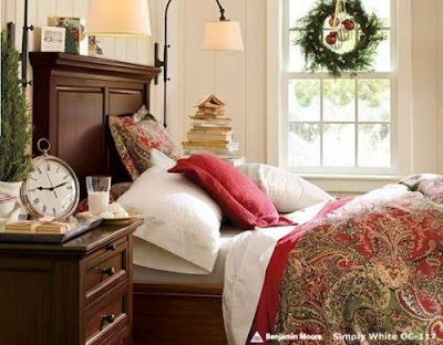 Christmas Bedroom Decoration Ideas by Pottery Barn