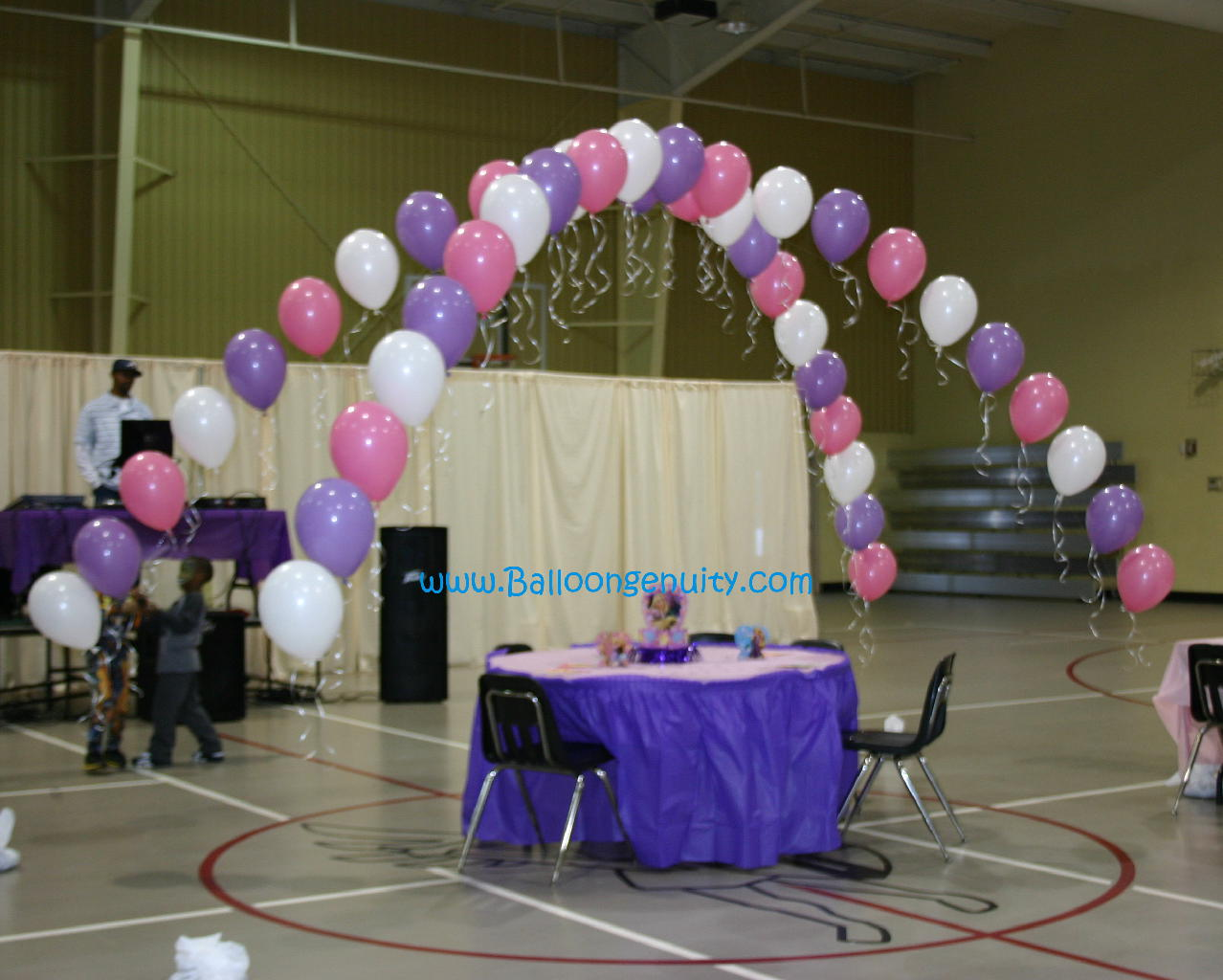 Balloon head table centerpieces invitations pictures