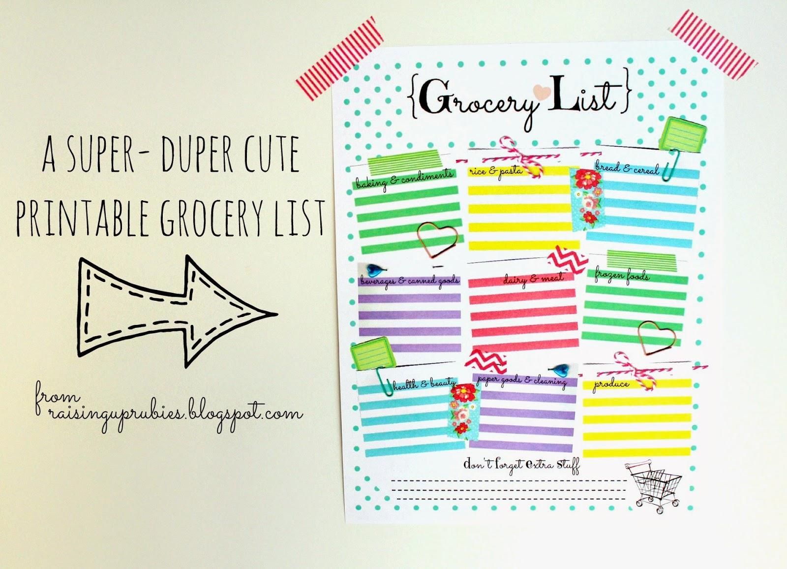 printable grocery list template – Free Printable Grocery List Template