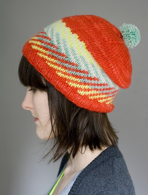 Zam Hat by Alex Tinsley - 20% off Malabrigo Patterns for Malabrigo March!