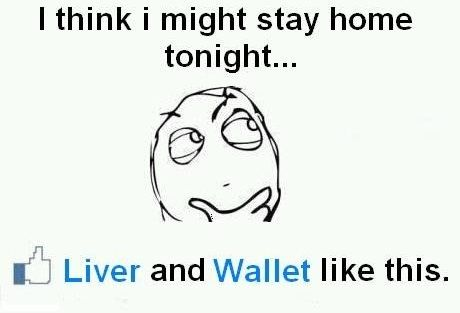 I Think I Might Stay Home Tonight - Funny Facebook Status