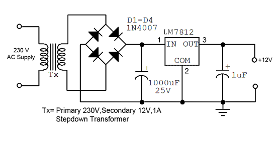 circuit diagram 15v dc power supply the wiring diagram 12v fixed voltage power supply expert circuits wiring diagram