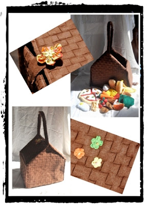 felt food and picnic basket