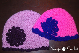 {Niccupp Crochet} Matching Little Girl & Doll Hats