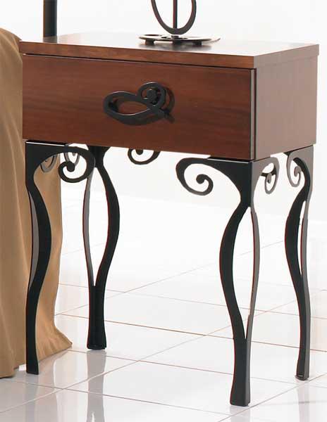 Muebles de forja dormitorio de forja y madera elena - Mesillas de forja ...