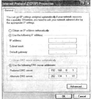 Internet Protocol (TCP/IP) Propertiess