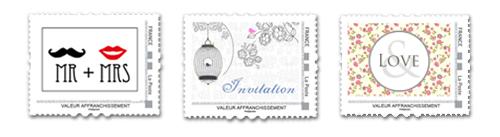 aujourdhui grce la poste vous pouvez imprimer vos planches de timbres personnaliss directement affranchis la valeur que vous souhaitez une - Timbres Personnaliss Mariage