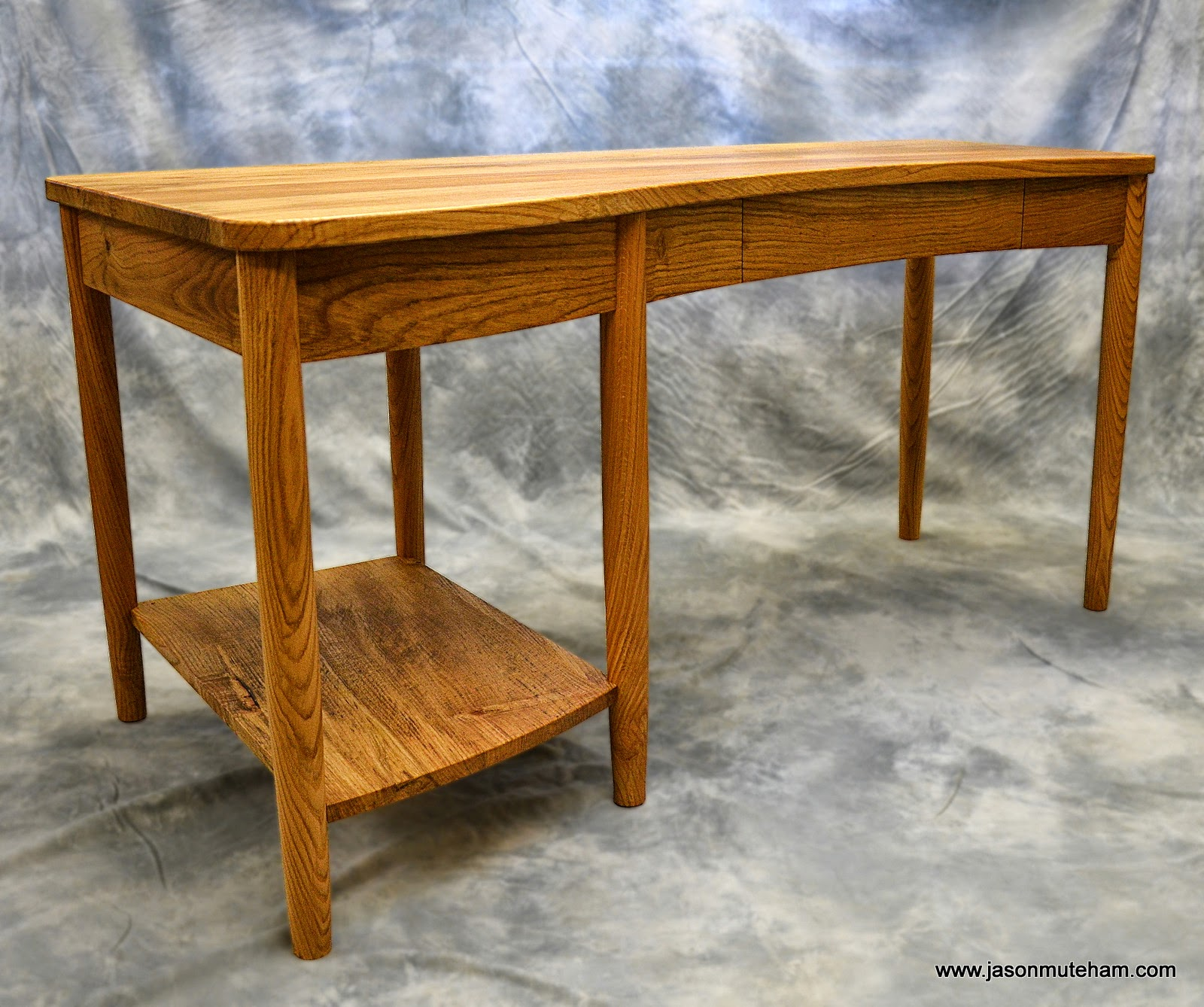 Bespkoke Curvy Oak Desk