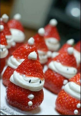 decoración,navidad,frutillas,chantilli,mesa navideña,gourmet,facil