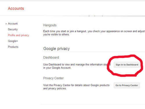 how to change password on google plus