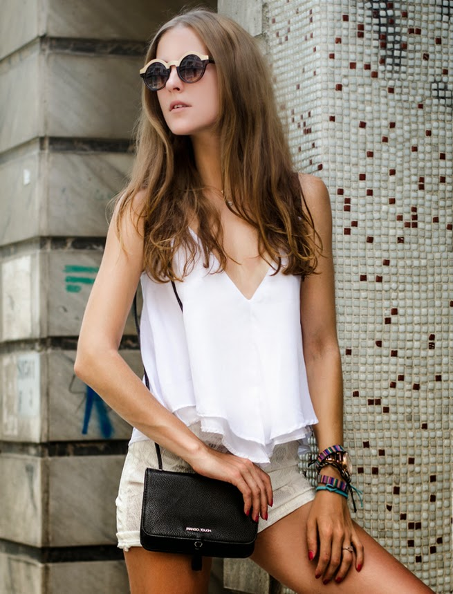 summer total white outfit, istanbul streetstyle, fashion blogger, russian best blogger , fashion details, mango clutch, sheinside top outfit,